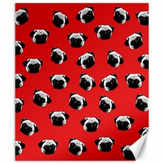 Pug dog pattern Canvas 20  x 24