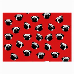 Pug dog pattern Large Glasses Cloth (2-Side)