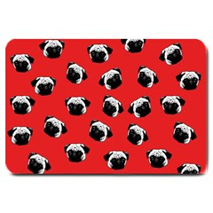 Pug dog pattern Large Doormat