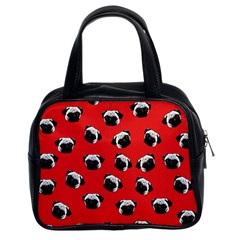 Pug dog pattern Classic Handbags (2 Sides)