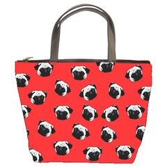 Pug dog pattern Bucket Bags