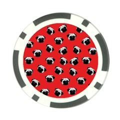 Pug dog pattern Poker Chip Card Guard (10 pack)