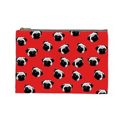 Pug dog pattern Cosmetic Bag (Large)