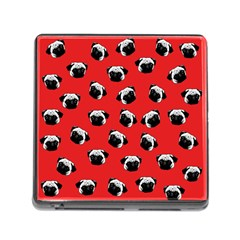 Pug dog pattern Memory Card Reader (Square)