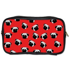 Pug dog pattern Toiletries Bags 2-Side