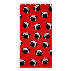 Pug dog pattern Shower Curtain 36  x 72  (Stall)