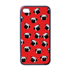 Pug dog pattern Apple iPhone 4 Case (Black)