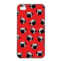Pug dog pattern Apple iPhone 4/4s Seamless Case (Black)