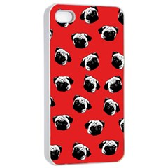 Pug dog pattern Apple iPhone 4/4s Seamless Case (White)