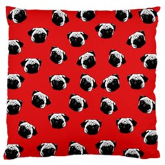 Pug dog pattern Large Cushion Case (One Side)