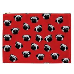 Pug dog pattern Cosmetic Bag (XXL)