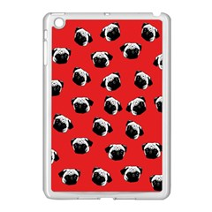 Pug dog pattern Apple iPad Mini Case (White)