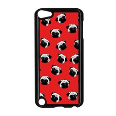 Pug dog pattern Apple iPod Touch 5 Case (Black)