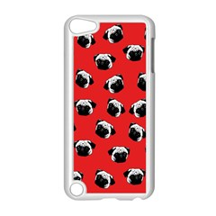 Pug dog pattern Apple iPod Touch 5 Case (White)