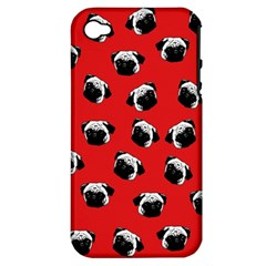 Pug dog pattern Apple iPhone 4/4S Hardshell Case (PC+Silicone)