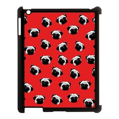 Pug dog pattern Apple iPad 3/4 Case (Black)