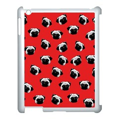 Pug dog pattern Apple iPad 3/4 Case (White)