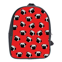 Pug dog pattern School Bags (XL)