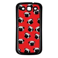Pug dog pattern Samsung Galaxy S3 Back Case (Black)