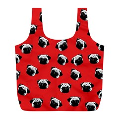 Pug dog pattern Full Print Recycle Bags (L)