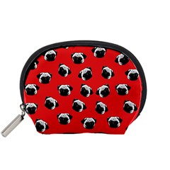 Pug dog pattern Accessory Pouches (Small)