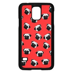 Pug dog pattern Samsung Galaxy S5 Case (Black)