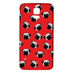 Pug dog pattern Samsung Galaxy S5 Back Case (White)