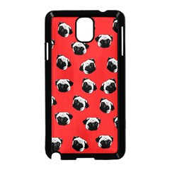 Pug dog pattern Samsung Galaxy Note 3 Neo Hardshell Case (Black)