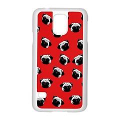 Pug dog pattern Samsung Galaxy S5 Case (White)
