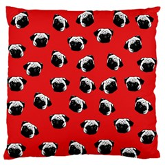 Pug dog pattern Large Flano Cushion Case (Two Sides)