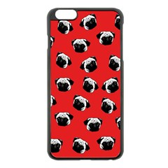 Pug dog pattern Apple iPhone 6 Plus/6S Plus Black Enamel Case