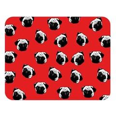 Pug dog pattern Double Sided Flano Blanket (Large)