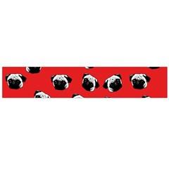 Pug dog pattern Flano Scarf (Large)