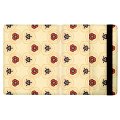 Orange flowers pattern   Apple iPad 2 Flip Case