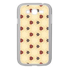 Orange flowers pattern   Samsung GALAXY S4 I9500/ I9505 Case (White)