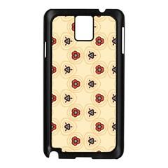 Orange flowers pattern   Samsung Galaxy Note 3 N9005 Case (White)