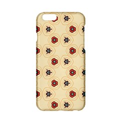 Orange flowers pattern   Apple iPhone 6/6S Black Enamel Case