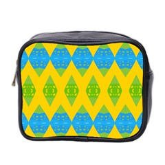 Rhombus pattern           Mini Toiletries Bag (Two Sides)