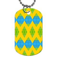 Rhombus pattern           Dog Tag (One Side)