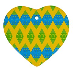 Rhombus pattern           Ornament (Heart)