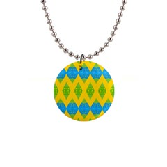 Rhombus pattern           1  Button Necklace