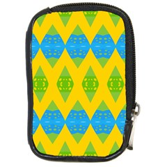 Rhombus pattern           Compact Camera Leather Case