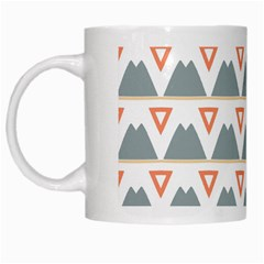 Triangles and other shapes           White Mug
