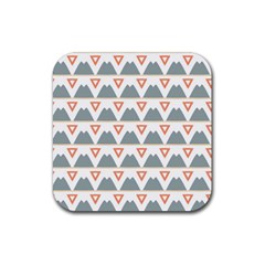 Triangles and other shapes           Rubber Square Coaster (4 pack