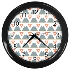 Triangles and other shapes           Wall Clock (Black)