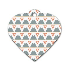 Triangles and other shapes           Dog Tag Heart (One Side)
