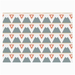 Triangles and other shapes           Large Glasses Cloth