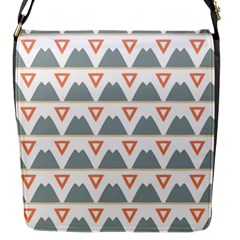Triangles and other shapes           Flap Closure Messenger Bag (S)