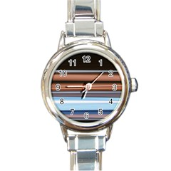 Color Screen Grinding Round Italian Charm Watch