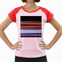Color Screen Grinding Women s Cap Sleeve T Shirt